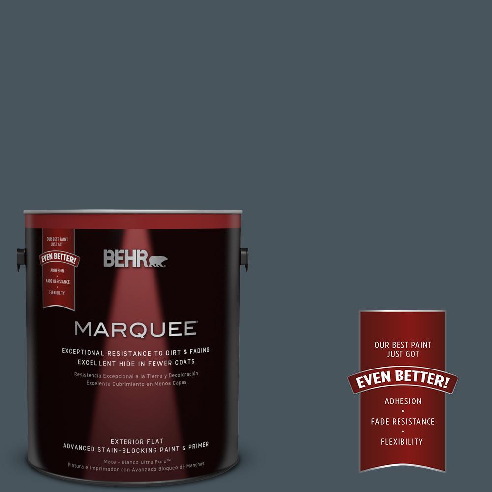 BEHR MARQUEE 1-gal. #BNC-40 Moody Black Flat Exterior Paint