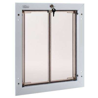 11-3/4 in. x 16 in. Door Mount White Large Dog Door