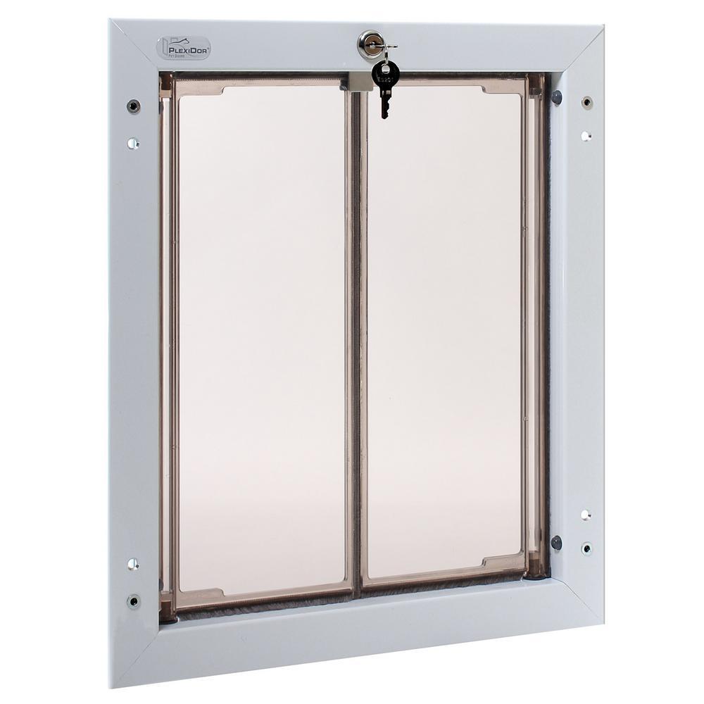 11-3/4 in. x 16 in. Door Mount White Large Dog Door