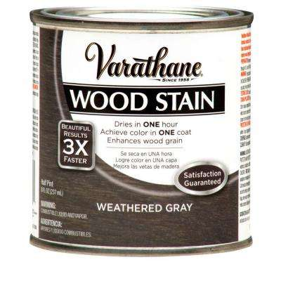8 oz. Weathered Gray Premium Fast Dry Interior Wood Stain (4-Pack)