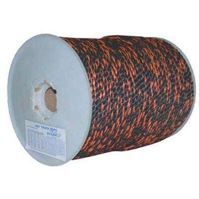 1 in. X 600 ft.  Black and Orange Polypro California Truck Rope