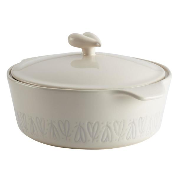 Ayesha Curry Home Collection 2.5 Qt. Ceramic Round Casserole in French
