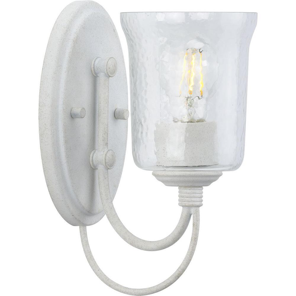 Bowman 1-Light Cottage White Bath Light