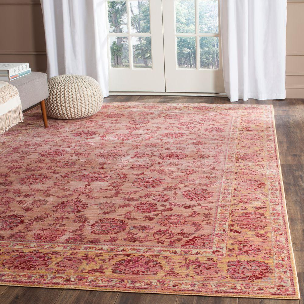 Safavieh Valencia Pink/Multi 5 ft. x 8 ft. Area Rug-VAL113H-5 - The ...