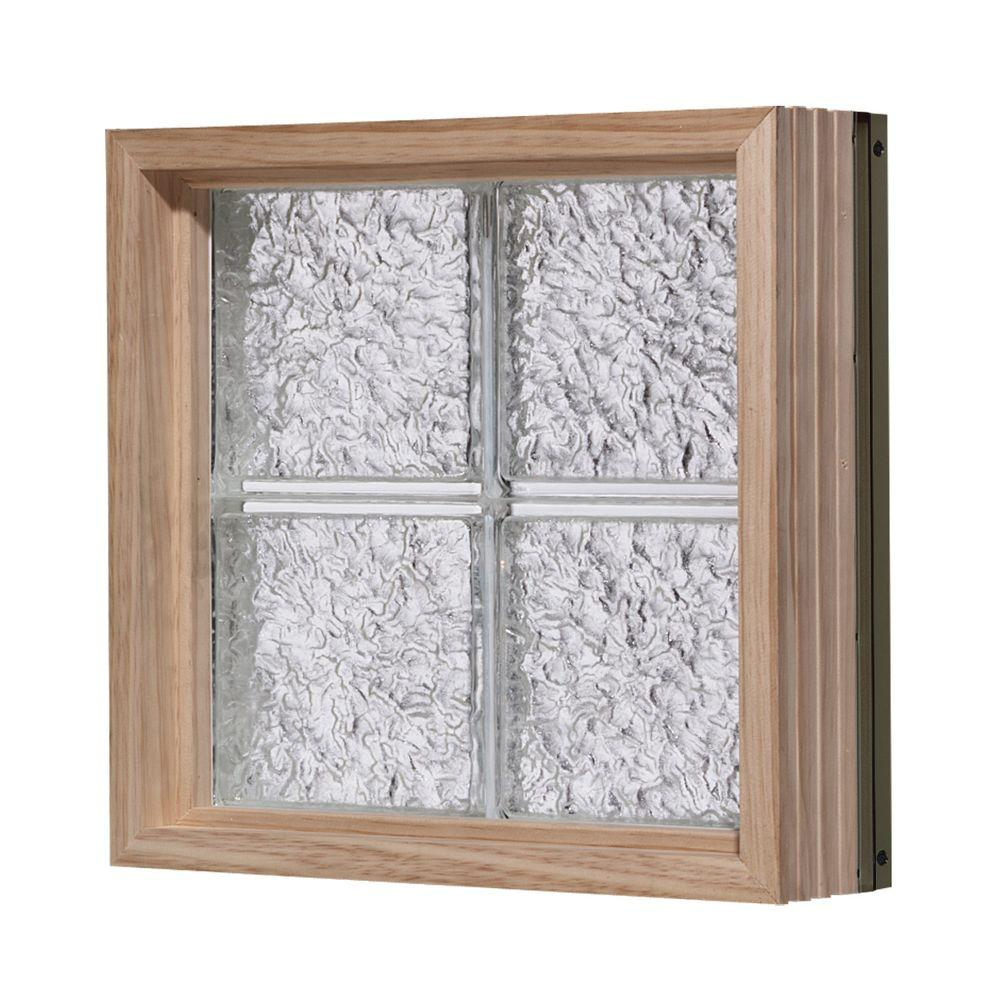 Pittsburgh Corning 40 in. x 72 in. LightWise IceScapes Pattern Aluminum-Clad Glass Block Window