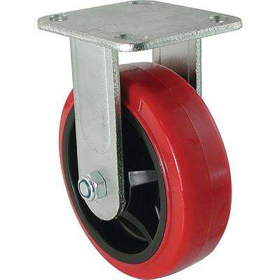 6 in. Polyurethane Rigid Caster with 900 lb. Load Rating