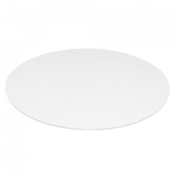 White Round Gl Table Top