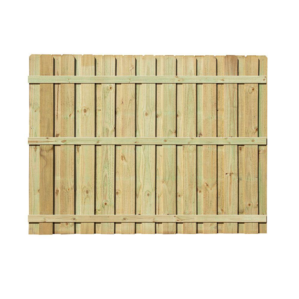 6 ft. H x 8 ft. W Pressure-Treated Pine Board-on-Board Fence