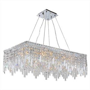 Worldwide Lighting Cascade Collection 16 Light Crystal And Chrome Chandelier W83626c32 The Home Depot