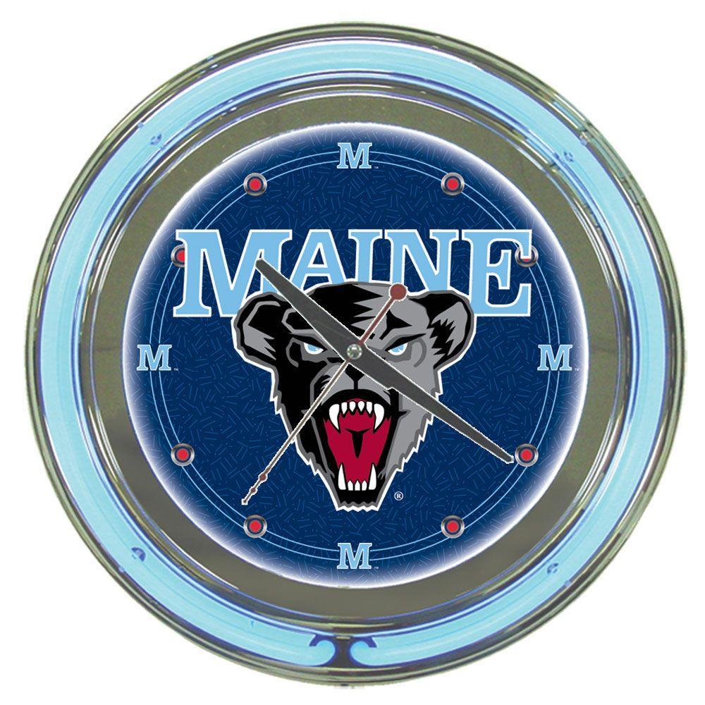 Trademark 14 in. University of Maine Neon Wall Clock