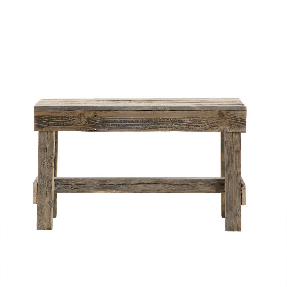 Reclaimed Barnwood Natural Bench