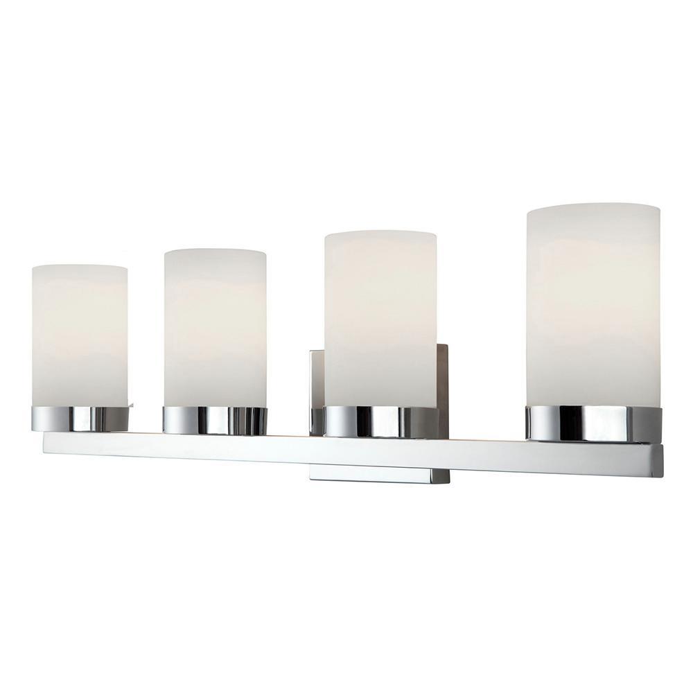 CANARM Milo 4-Light Chrome Bath Light-IVL429A04CH - The Home Depot