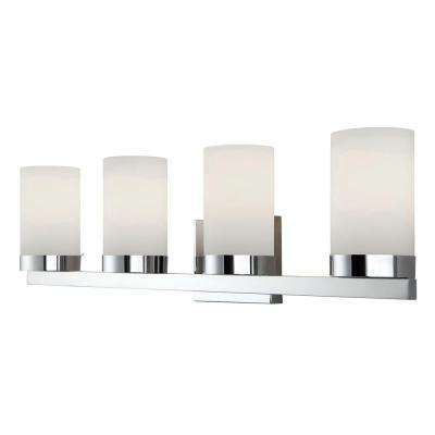 Milo 4-Light Chrome Bath Light