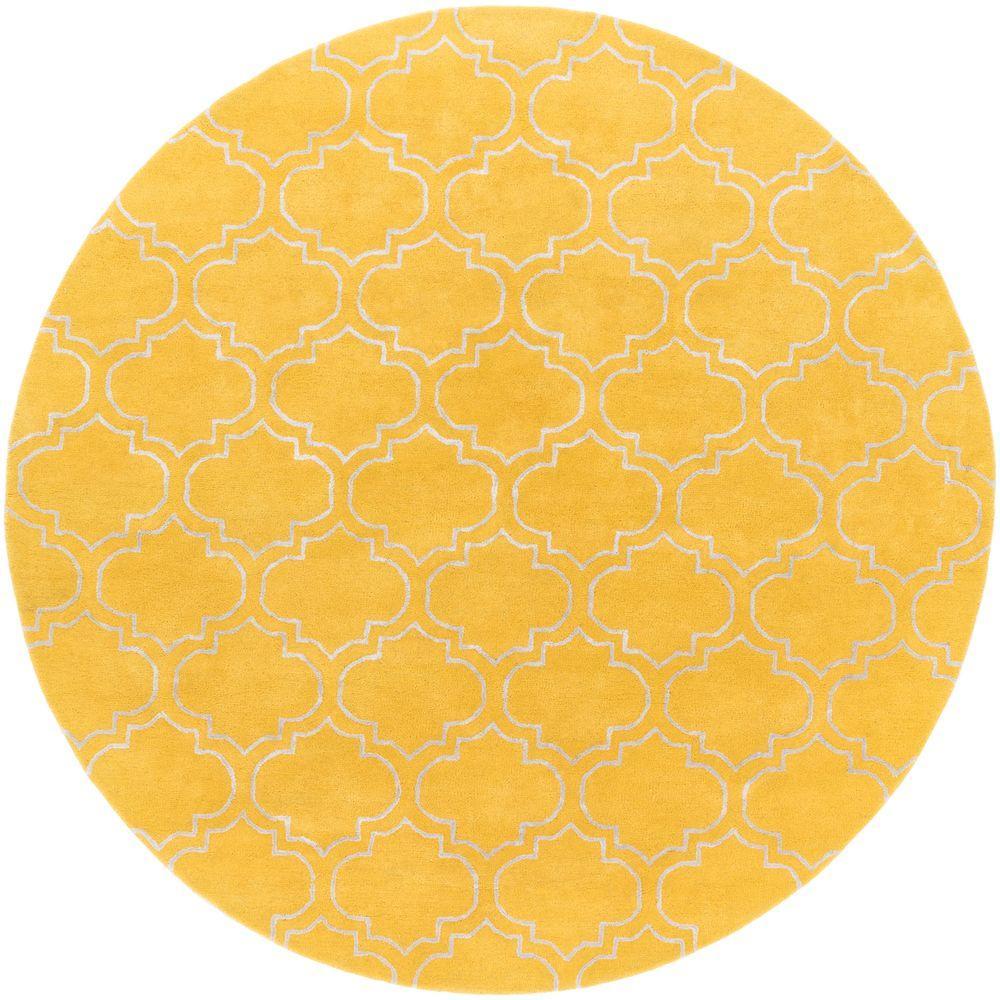 Yellow Round Rug Rugs Ideas