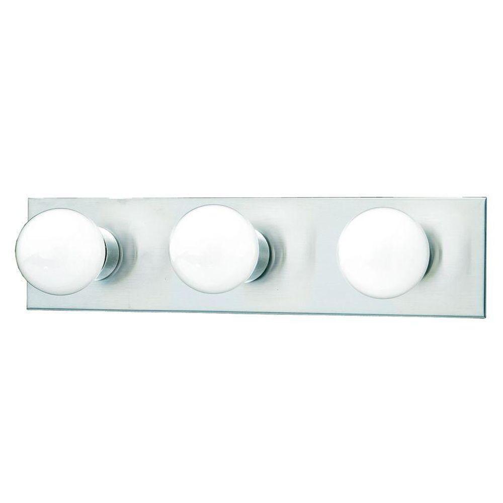 3-Light Brushed Nickel Wall Vanity Light