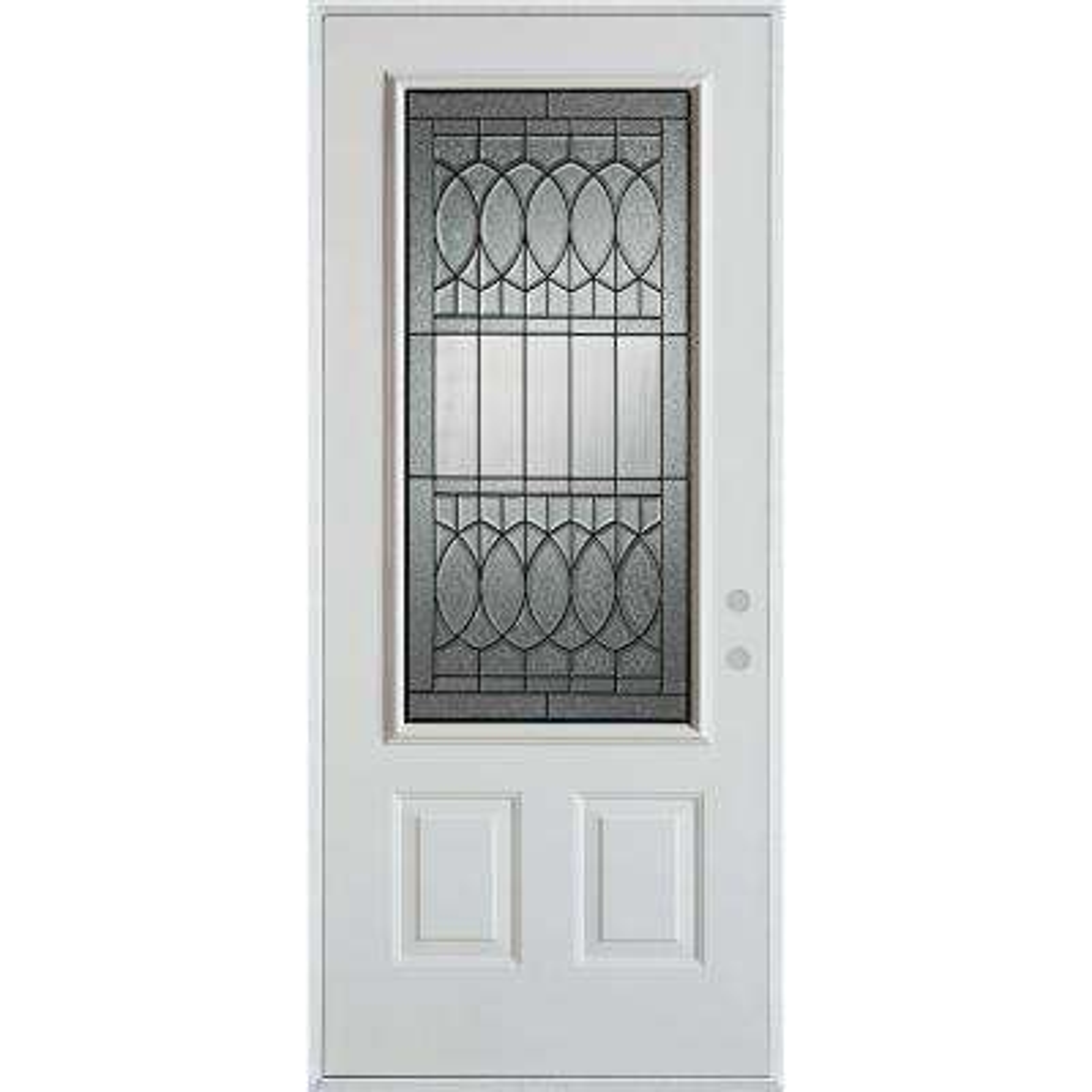 36 in. x 80 in. Nightingale Patina 3/4 Lite 2-Panel  sc 1 st  The Home Depot & Stanley Doors - Front Doors - Exterior Doors - The Home Depot