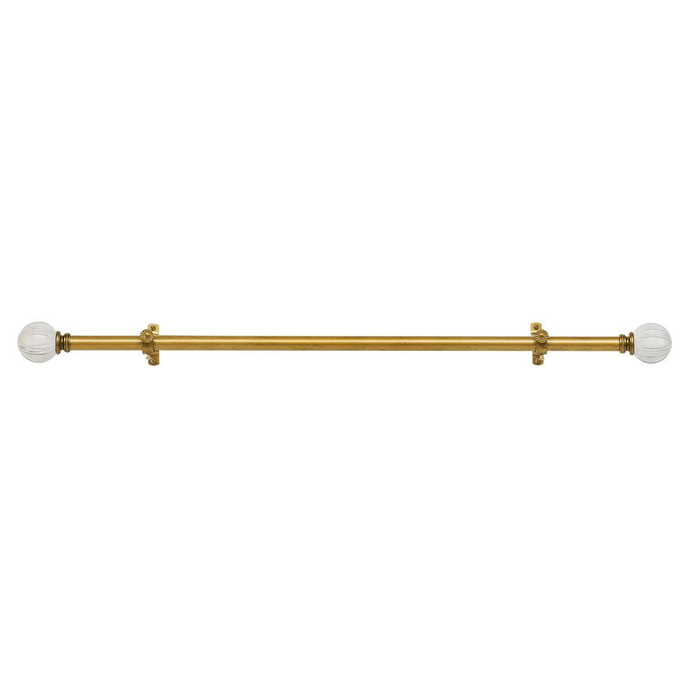 Achim Buono II 28 in. to 48 in. Antique Gold Emma Decorative Rod and Finial