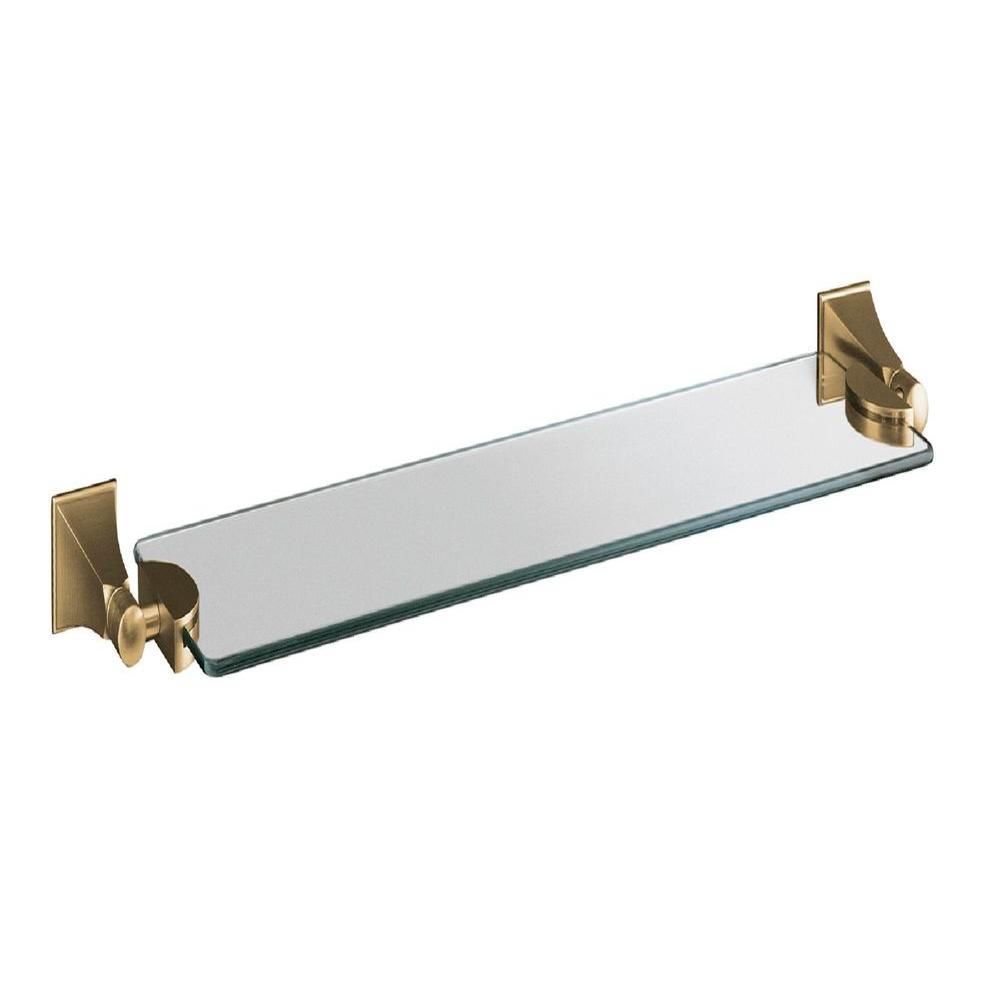 KOHLER Memoirs 26 in. W Wall-Mount Shelf in Glass and Vibrant Brushed Bronze