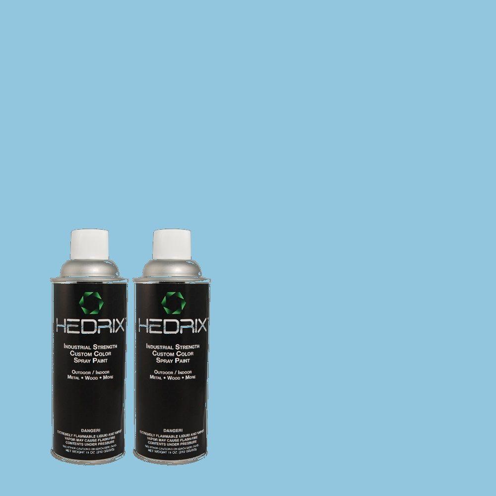 Hedrix 11 oz. Match of 540B-4 Horizon Haze Semi-Gloss Custom Spray Paint (2-Pack)