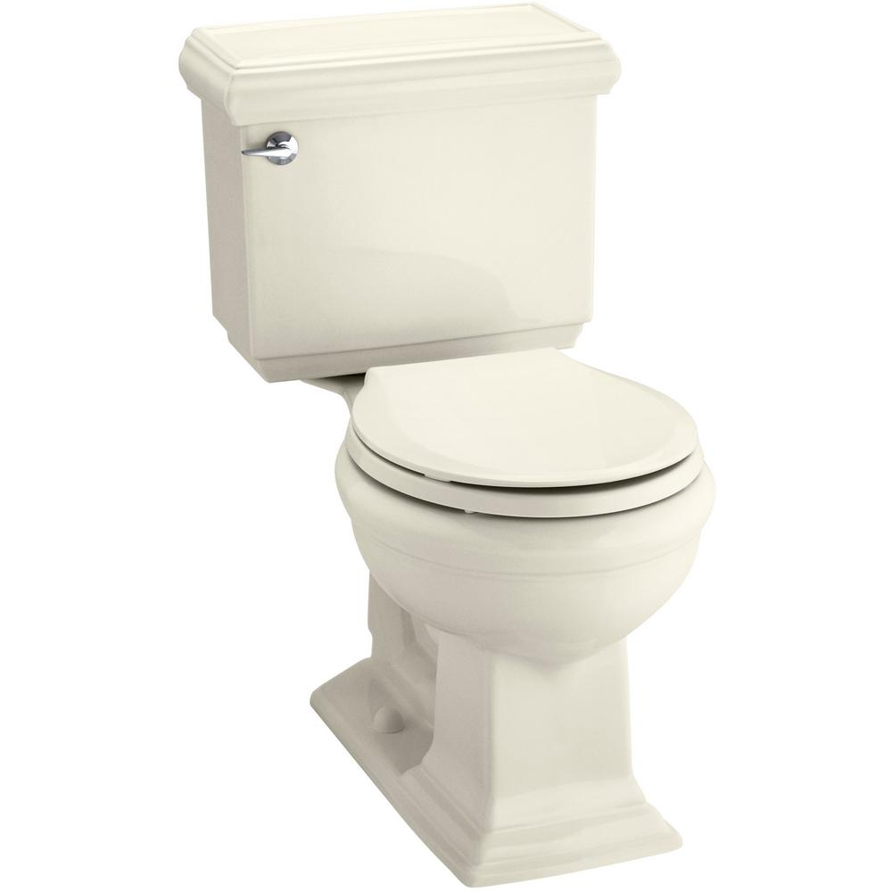 KOHLER Memoirs Classic 2-piece 1.28 GPF Single Flush Round Toilet with AquaPiston Flushing Technology in Almond