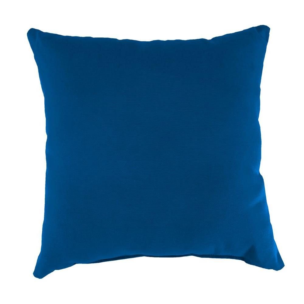 Jordan Manufacturing Sunbrella Canvas Navy Square Outdoor Throw Pillow