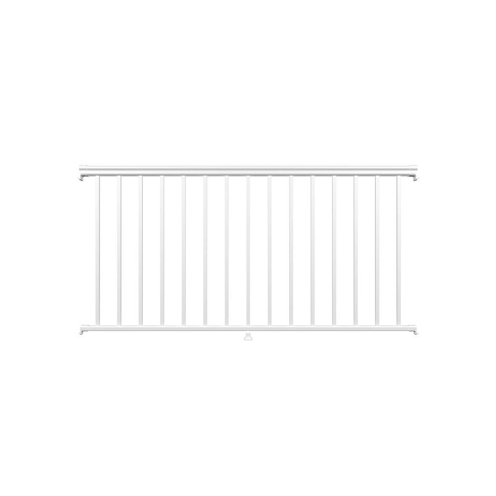 6 ft. White Fine Textured Aluminum Level Rail Kit (1-Qty)