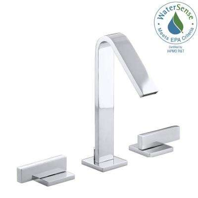 Loure 8 in. Widespread 2-Handle Water-Saving Bathroom Faucet in Polished Chrome