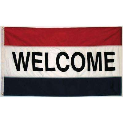3 ft. x 5 ft. Welcome Flag