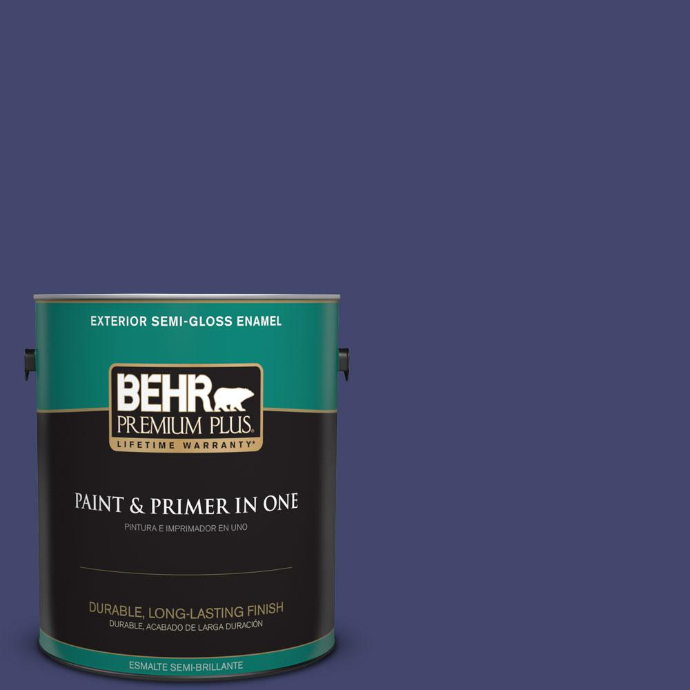 1-gal. #T11-19 Starlit Night Semi-Gloss Enamel Exterior Paint