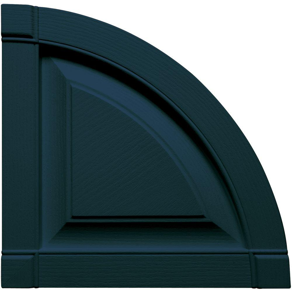15 in. x 15 in. Raised Panel Design Midnight Blue Quarter
