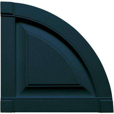15 in. x 15 in. Raised Panel Design Midnight Blue Quarter Round Tops Pair #166