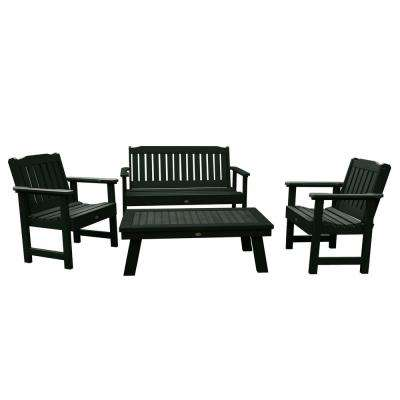Lehigh Charleston Green 4-Piece Recycled Plastic Outdoor Conversation Set