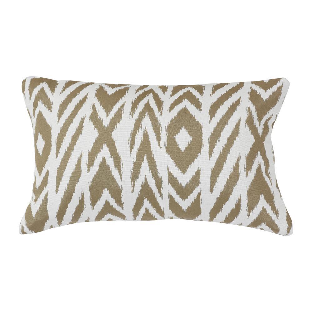 Fire Island Hemp Lumbar Outdoor Accent Throw Pillow