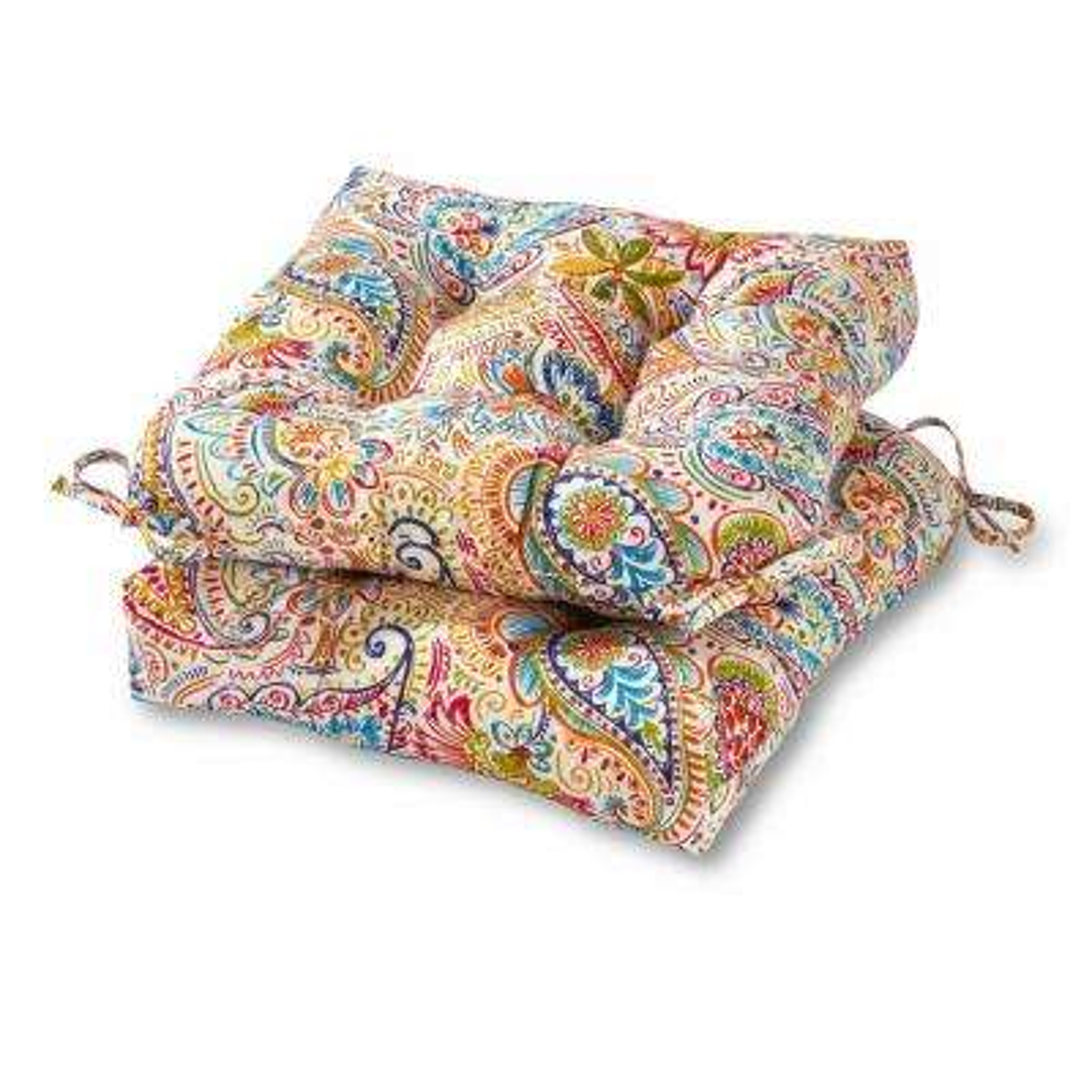 Jamboree Paisley Square Outdoor Throw Pillow 2-Pack