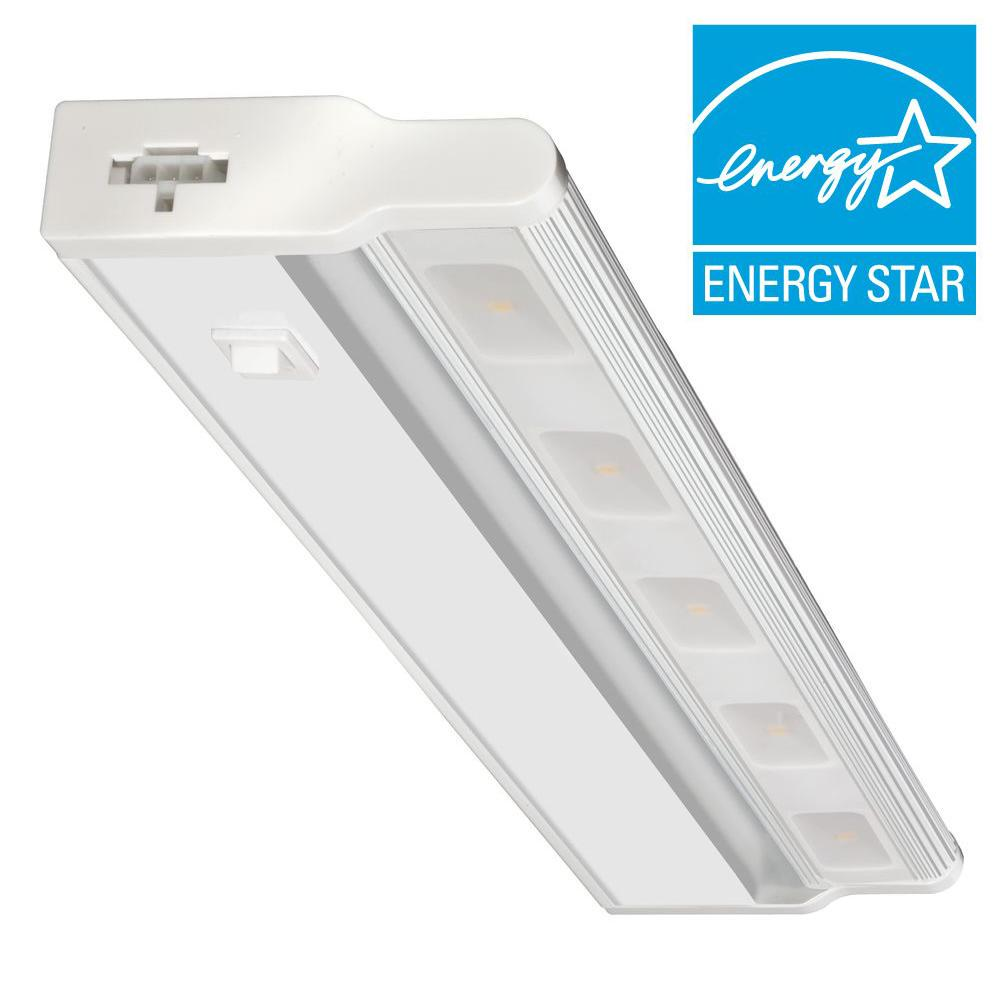 Lithonia Lighting 18 in. LED White Under Cabinet Light-UCLD 18 WH ...