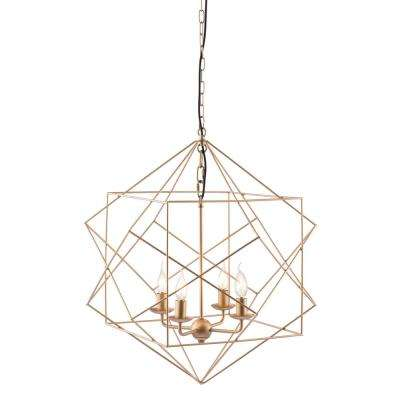 Penta 4-Light Gold Pendant with Painted Metal shade