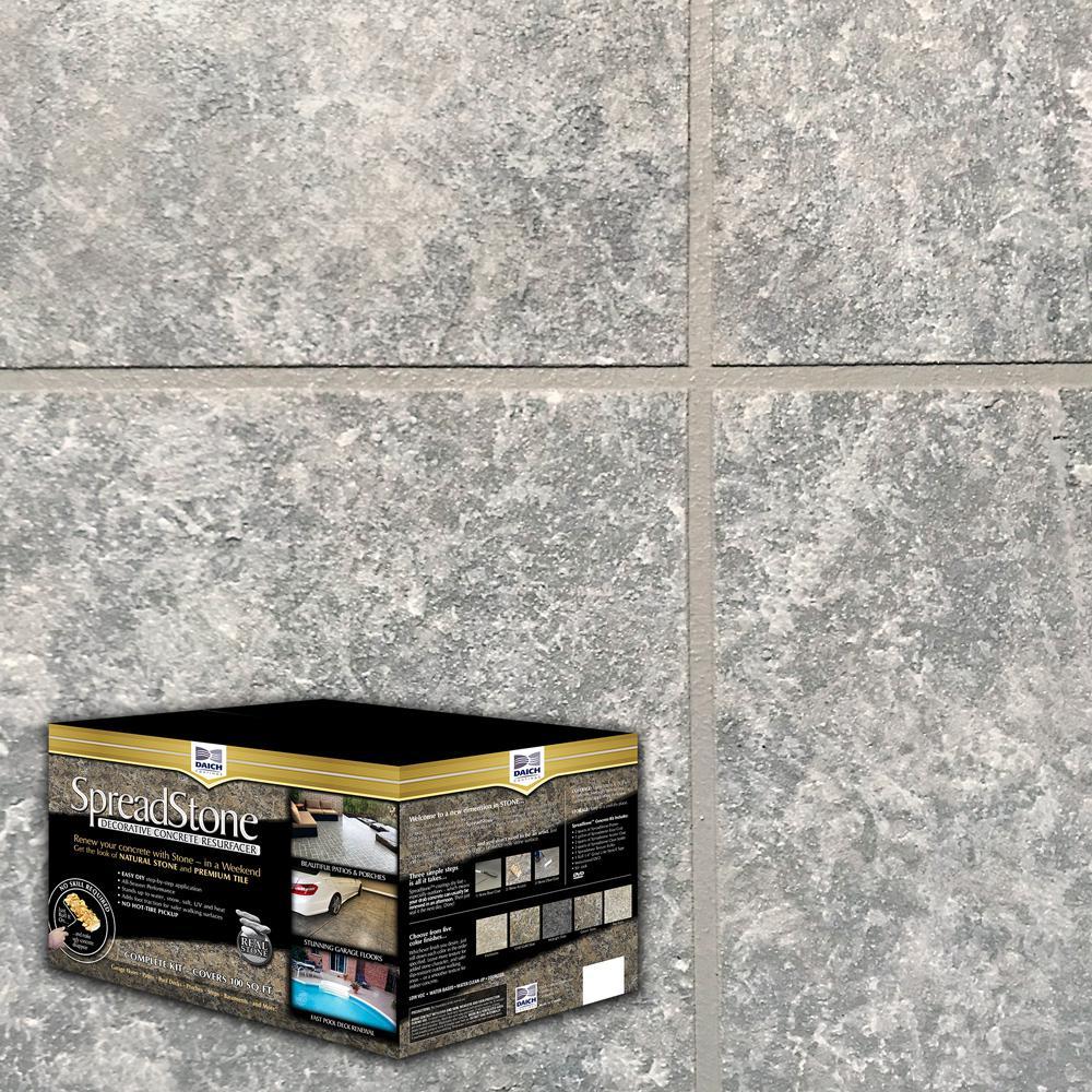 SpreadStone 2.5 gal. Summit Grey Satin Interior/Exterior Decorative Concrete Resurfacing Kit