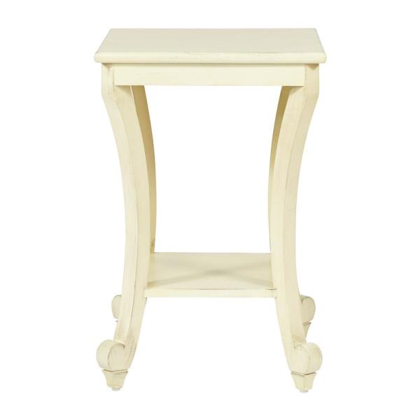 OSP Home Furnishings Daren Antique White Accent Table DAR6504-DH4