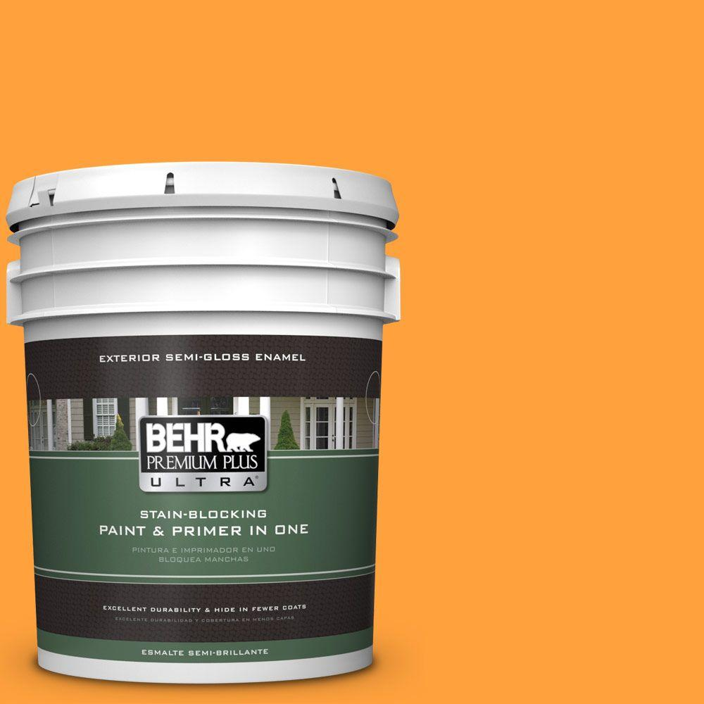 BEHR Premium Plus Ultra 5-gal. #S-G-300 Hawaiian Passion Semi-Gloss Enamel Exterior Paint