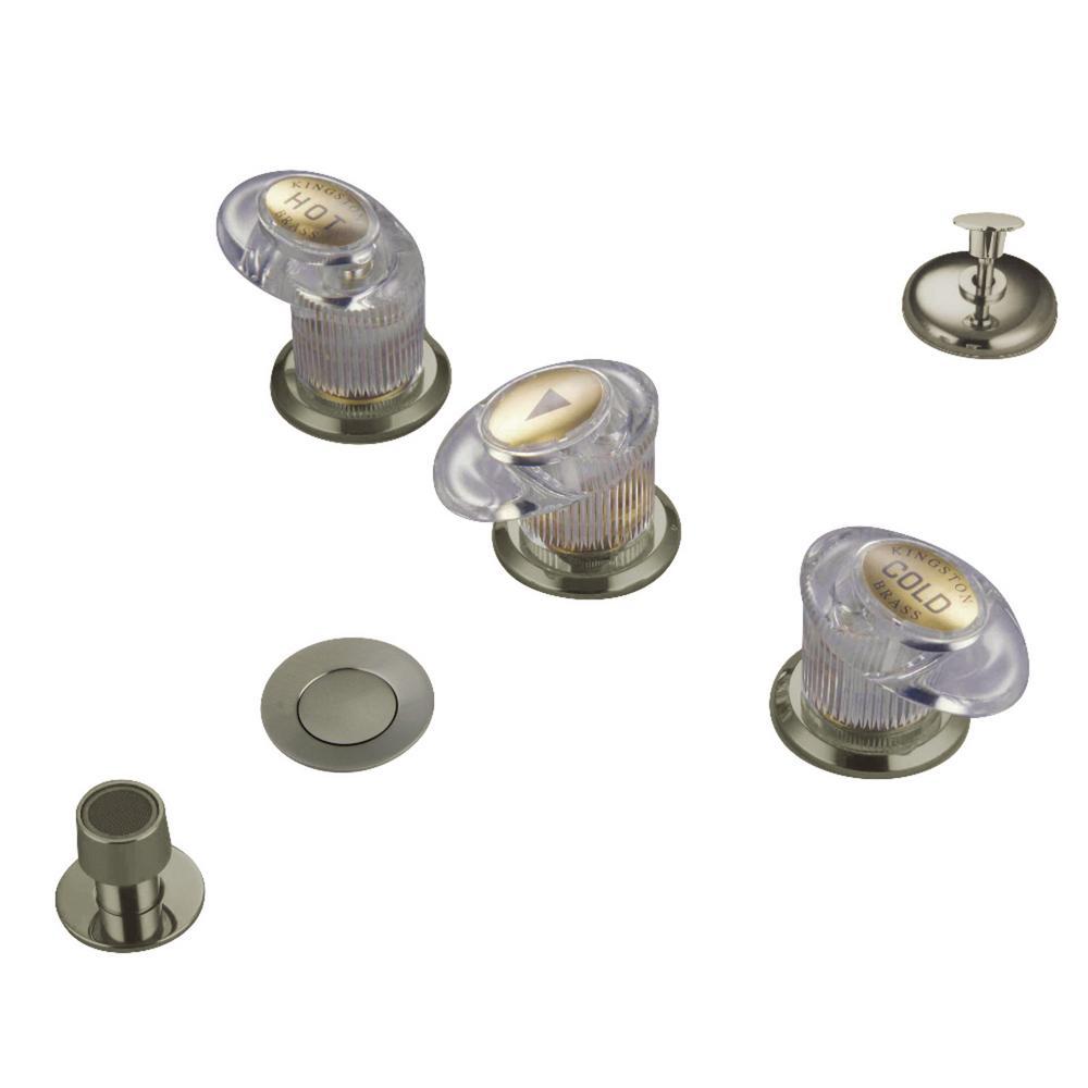 Legacy 3-Handle Bidet Faucet in Brushed Nickel