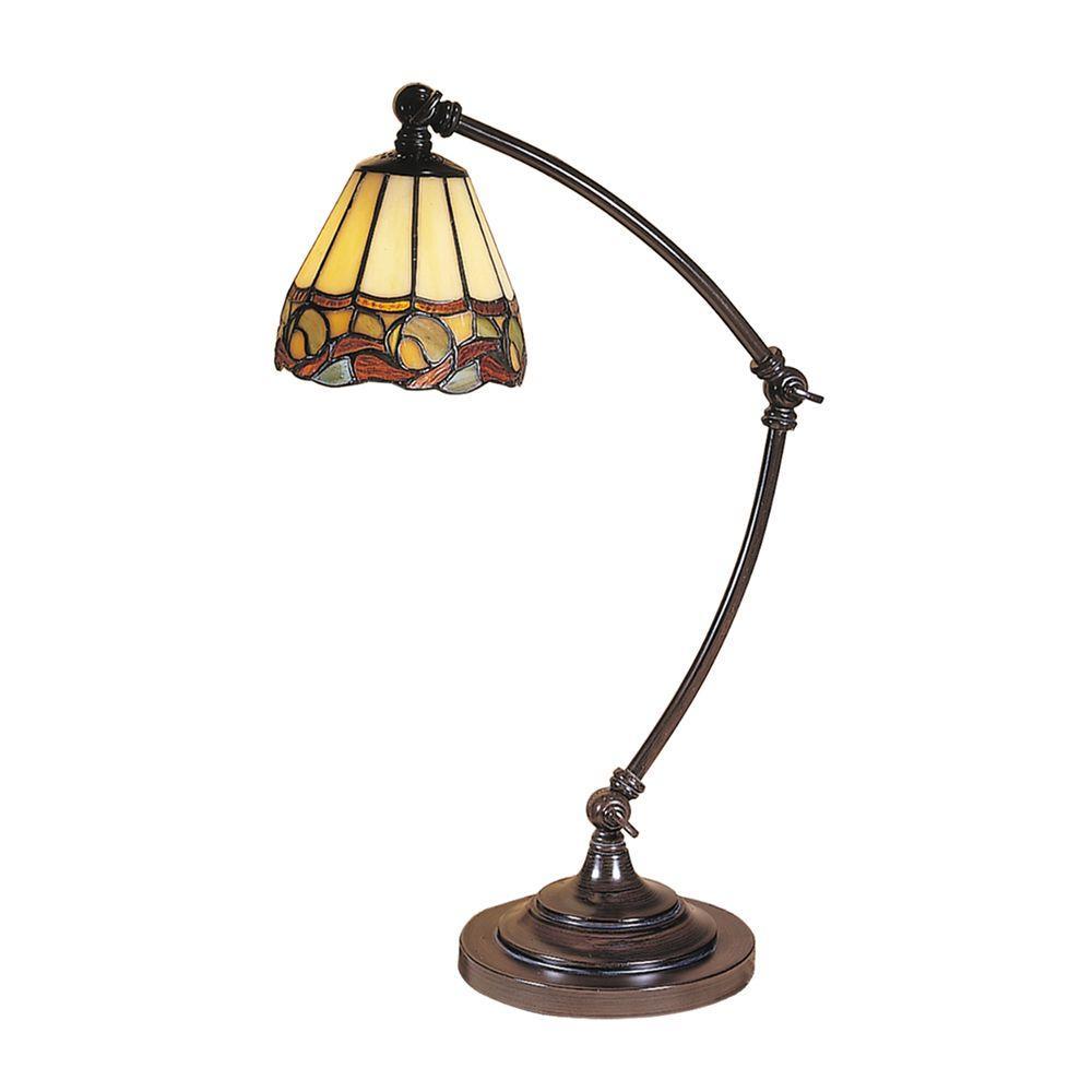 Ainsley Mica Bronze Desk Lamp - Dale Tiffany 19.5 In. Ainsley Mica Bronze Desk Lamp-TA100700 - The
