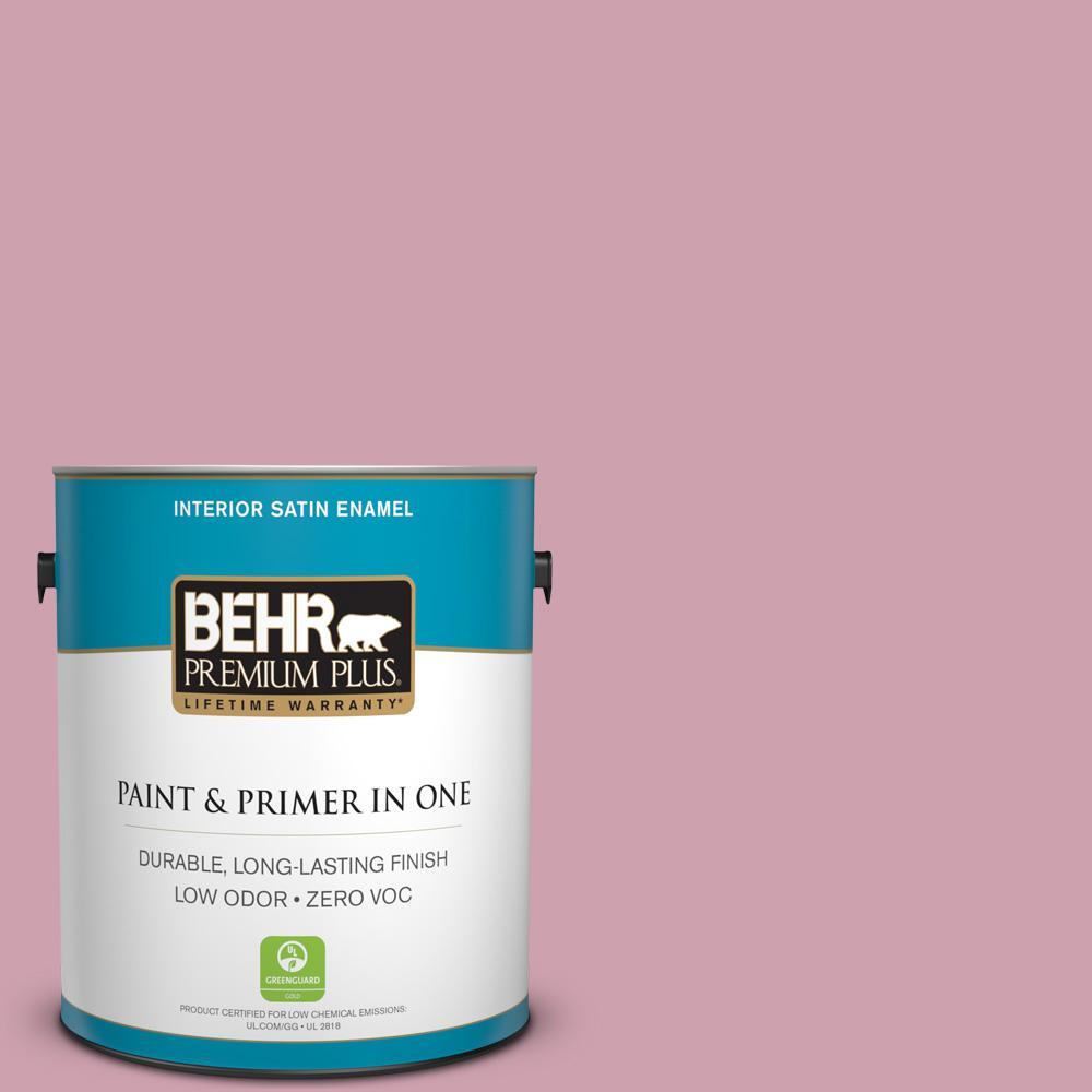 1-gal. #100C-3 Birthday Candle Zero VOC Satin Enamel Interior Paint