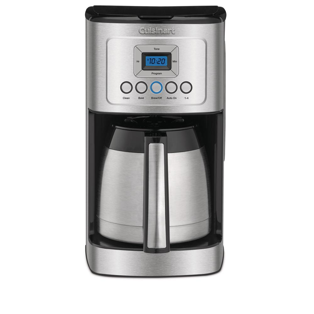 12 Cup Programmable Silver Coffee Maker
