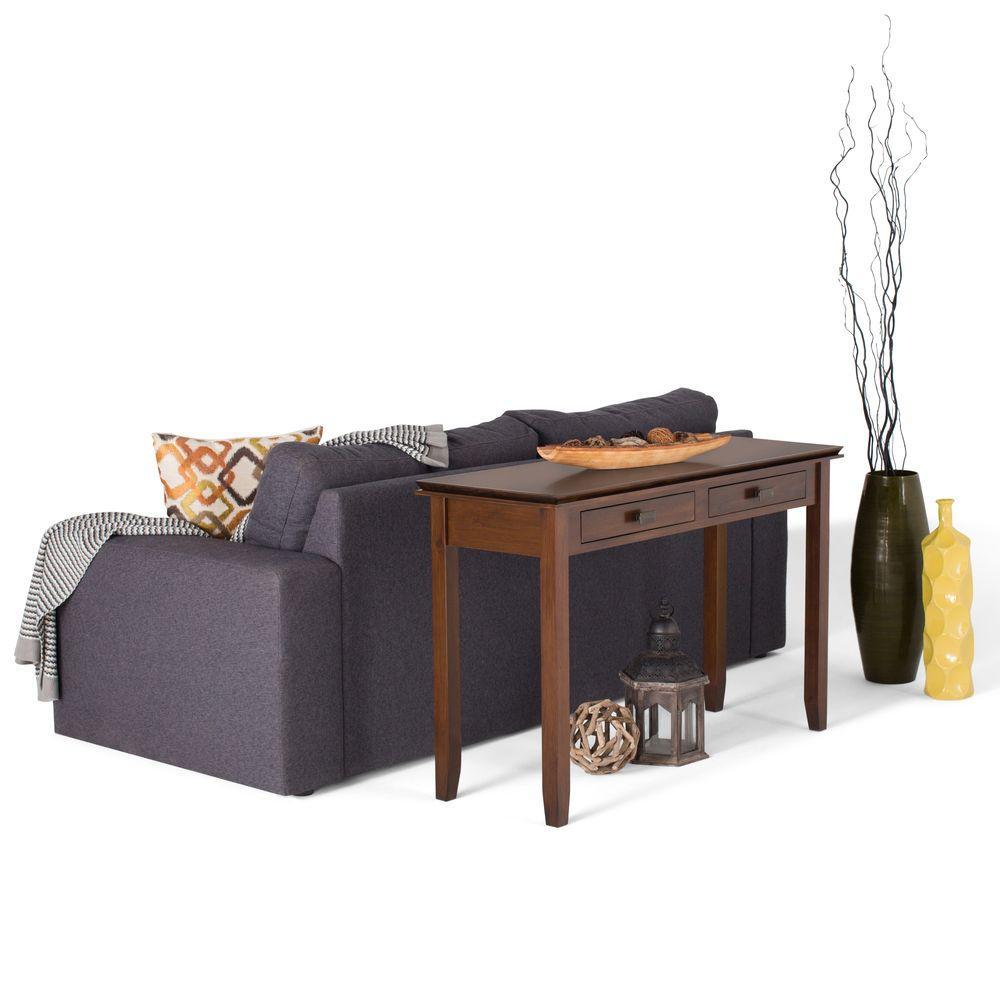 Artisan Medium Brown Auburn Storage Console Table