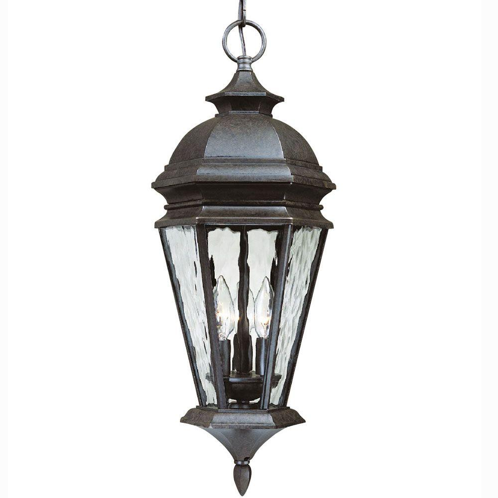 Hampton Bay Georgetown 3-Light Bronze Outdoor Lantern