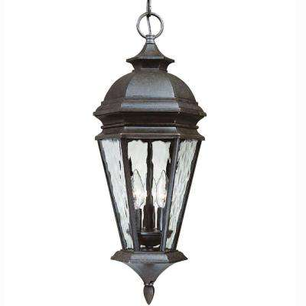 Georgetown 3 Light Bronze Outdoor Lantern 9 Hampton Bay