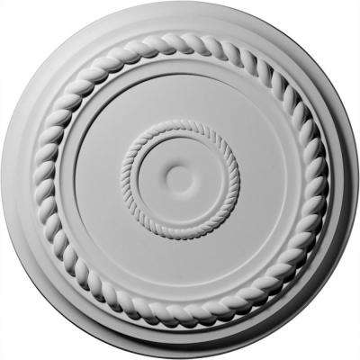 19-5/8 in. OD x 1-1/2 in. P (Fits Canopies up to 4-5/8 in.) Alexandria Rope Ceiling Medallion