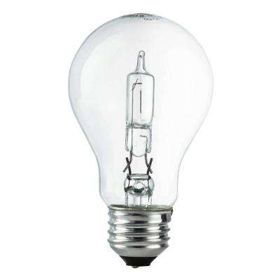 100W Equivalent Eco-Incandescent A19 Clear Dimmable Light Bulb (24-Pack)