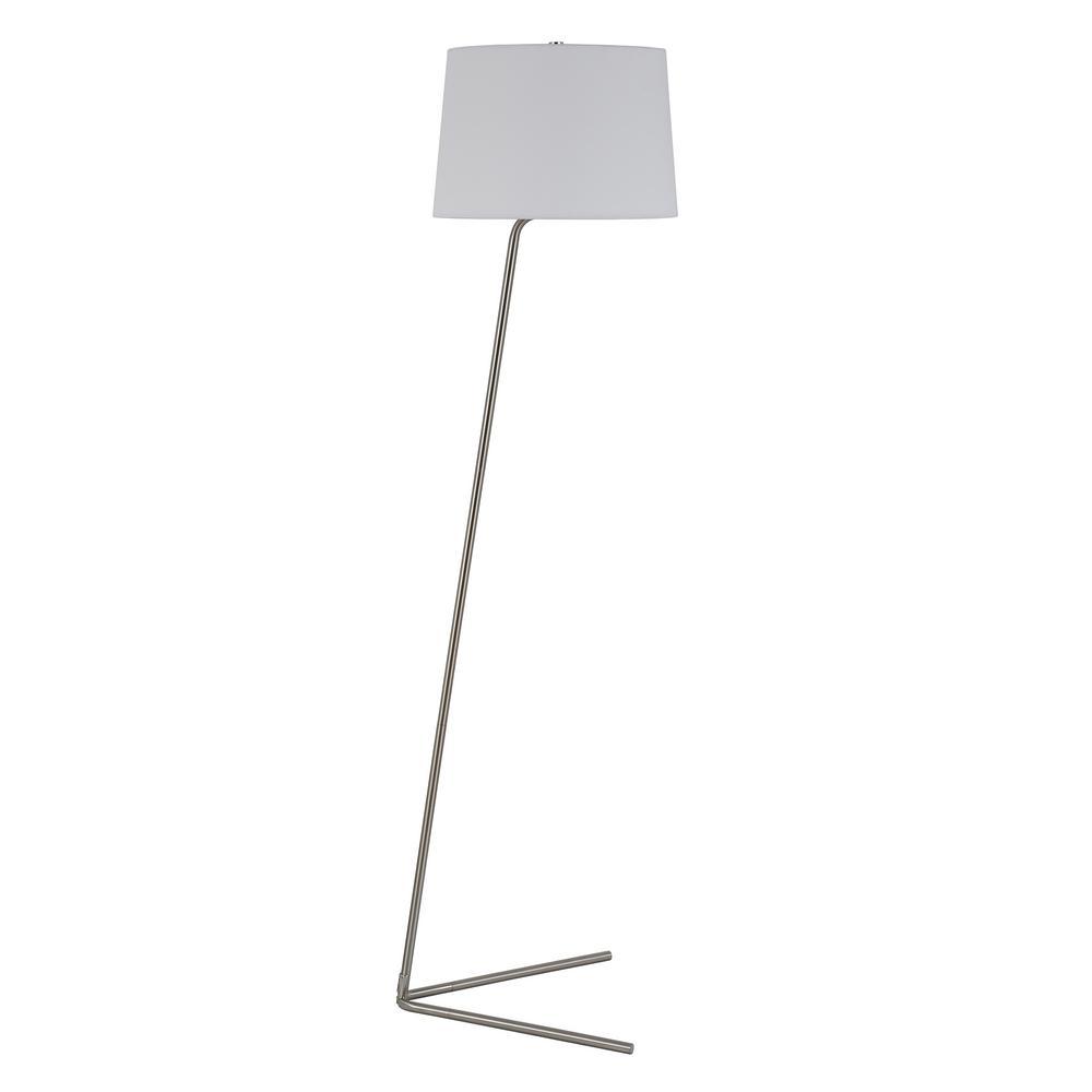 Markos 60-3/4 in. Nickel Floor Lamp