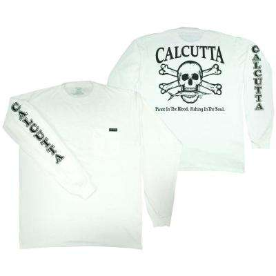 Adult Small Original Logo Long Sleeved T-Shirt in White